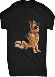Renowned Cute <b>German Shepherd</b> Sitting Down <b>Mens T Shirt</b> ...