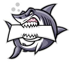 <b>Angry shark</b> mascot bite the text space Graphic Vector - Stock by Pixlr