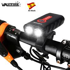 Upgrade <b>USB Rechargeable Bicycle Light</b> Waterproof L2 LED <b>Front</b> ...