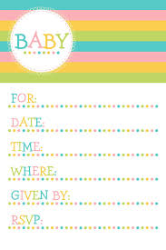color baby showers invitations templates baby showers invitations templates