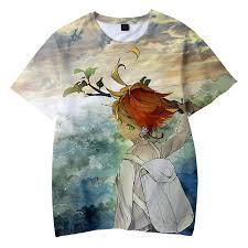 Frdun <b>The Promised Neverland 3D</b> T-shirt Kids Fashion Streetwear ...
