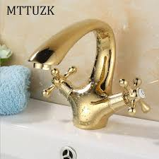 MTTUZK European long neck <b>golden brass</b> sitting mounted <b>double</b> ...