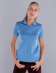 W13202FS-AA182 <b>Рубашка поло женская</b> (голубой), артикул ...
