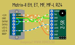 <b>Считыватели Matrix</b>. Подключение к контроллеру Z5-R.