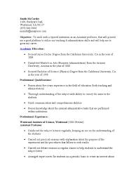 professor resume objective examples cipanewsletter assistant professor resume university professor