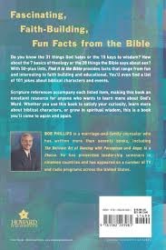 find it in the bible lists lists and lists bob phillips find it in the bible lists lists and lists bob phillips 9781582293981 com books