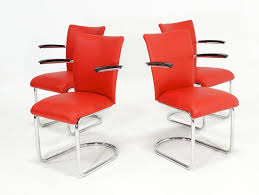 Vintage Red <b>Vinyl</b> Armchairs from De <b>Witt</b>, 1950s, Set of 4 for sale at ...