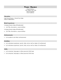 basic resume template for high school students httpwwwjobresume resume template for students