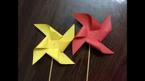 <b>how to make a</b> paper <b>windmill</b> (tutorial) paper pinwheel - YouTube