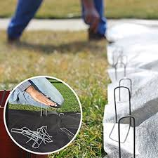 Landscape Fabric Pegs, <b>Pins</b> & Staples 10~<b>50X</b> Half <b>Green</b> Artificial ...