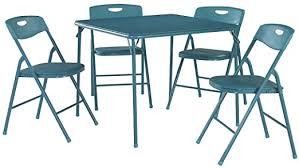 Cosco <b>5</b>-<b>Piece Folding</b> Table and Chair Set, Teal: Amazon.ca ...