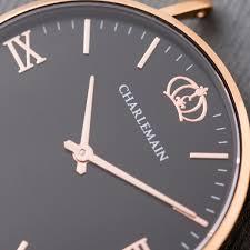 Cultus 36mm Rose Gold & <b>Black</b> – <b>Nylon</b> Blue <b>White</b> – Charlemain