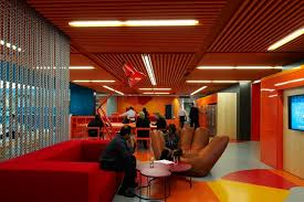 anz business centre creative colourful office spaces red anz office melbourne