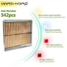 grow Mars Hydro TS <b>1000W Led Grow</b> Lights Full Spectrum Lamp ...