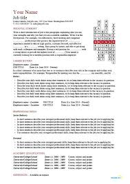free  able cv template examples  career advice  how to    crossword template