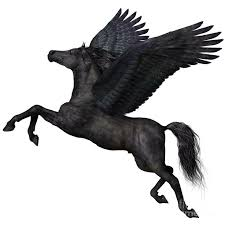 Black <b>Pegasus</b> Profile by Corey Ford | <b>Pegasus</b>, <b>Pegasus</b> tattoo ...