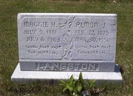 Langston, Almon J , Feb 27, 1875 - Mar 30, 1950, shares stone with MaggieJohn Copham - langstonalmonjandmaggie