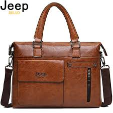 <b>Famous</b> Designer <b>JEEP BULUO</b> Brands Men Business Briefcase PU ...