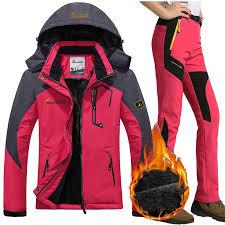 Waterproof Ski Suit <b>Women Ski Jacket Pants</b> Female <b>Winter</b> Outdoor ...