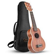 Hricane Soprano <b>Ukulele</b>, <b>21 Inch Uke</b> Sapele With Standard Carry ...
