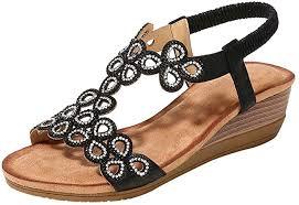 Desirepath Wedge <b>Shoes</b> for <b>Women</b> Open Toe <b>2019 Summer</b>