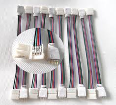 10 PCS/Lot 4PIN RGB Connect Wire Cable For 5050 SMD <b>LED</b> Strip ...
