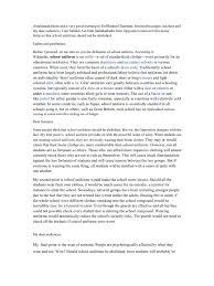 essay on school uniforms should be abolished high school argumentative essay about school uniforms should be abolished