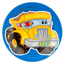 Construction Birthday Party Decorations Construction Pals Dump Truck Dinner Plates Birthdayexpresscom