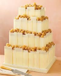 White-Chocolate Panel Wedding Cake - Modern Wedding Cakes - Wedding Cakes - MarthaStewartWeddings. Share on Facebook - 1299378798135032