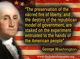 George Washington Quote, Preservation of the Sacred Fire Of ... via Relatably.com