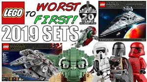 LEGO Worst To First | ALL <b>LEGO Star Wars</b> 2019 Sets! - YouTube
