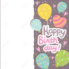 happy birthday card background balloons vector holiday happy birthday card background balloons vector holiday party template stock vector 29385355