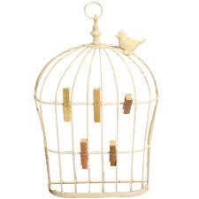 wall mounted bird cage design memo holder 5 clips blendboutique wall mounted bird cage design memo holder 5 clips