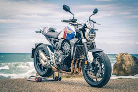 A dozen customized CB1000R's at Wheels and Waves 2019