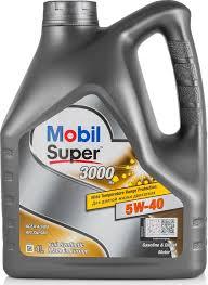 Моторное <b>масло MOBIL SUPER</b> 3000 X1 5W-40 <b>Синтетическое</b> 4 л