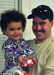Battle: Veronica, who is now three, was taken by her biological father, Dusten Brown (right), last December and the Capobiancos have not seen her since. - article-2253065-16A66B8A000005DC-982_306x423