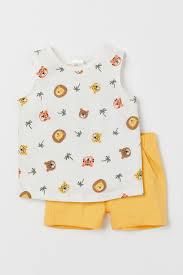 <b>Комплект 2</b> предмета из хлопка - Желтый/Животные - Дети ...