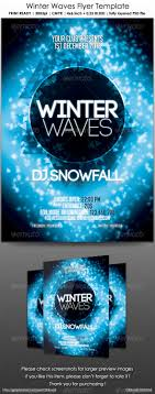 winter waves flyer template by criscx22 graphicriver winter waves flyer template clubs parties events