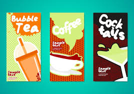 flyer vector art s bubble tea drinks flyers template