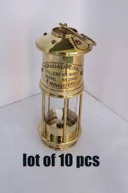 "7"" <b>Lot</b> of <b>10 Pcs Brass</b> Vintage Style Oil Lamp Ship Boat Lantern ..."