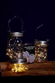 mason jar lights fairy lights battery op warm white fits a wide mouth mason blue mason jar string lights