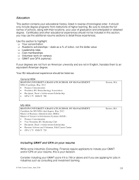 resume list education in what order