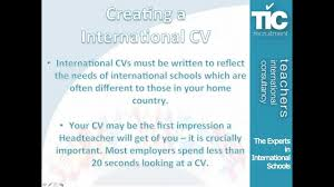 creating an international teaching cv creating an international teaching cv
