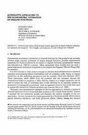 alternative approaches to the econometric estimation of demand inside