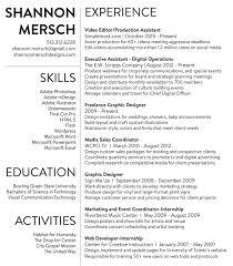 resume shannon mersch resume