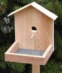 Over Free Bird House and Bird Feeder Woodcraft Plans at    Bird Feeder Plans