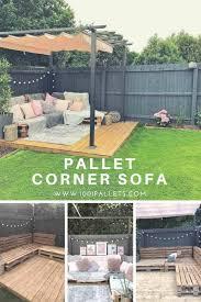 Easy <b>Pallet Corner</b> Sofa   <b>Pallet garden</b> furniture, Diy <b>garden</b> ...
