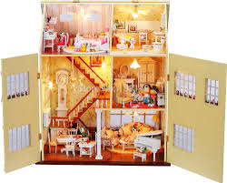13812 large diy wooden dollhouse villa doll house led lights miniatures for decoration model toy house aliexpresscom buy 112 diy miniature doll house