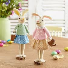 <b>Pair</b> of Providence Rabbits | Felted Spring & <b>Easter Decorations</b> ...