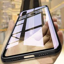 luxury tempered glass phone back